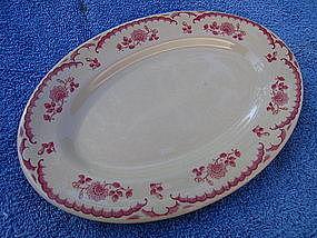 Shenango Inca Chardon Rose Platter
