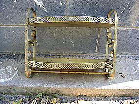 Vintage Metal Towel Rack Shelf