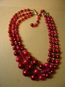 Fuchsia Bead Necklace