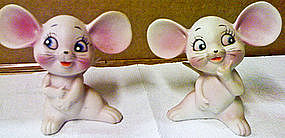 Vintage Porcelain Mice