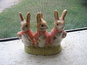 Royal Albert Flopsy, Mopsy and Cottontail Figurine