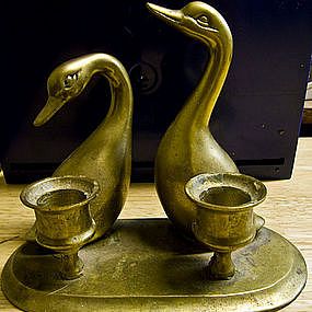 Geese Candle Holder