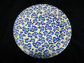 English Ironstone Blue Fruit Plate