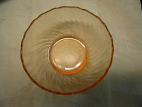Arcopal Pink Swirl Bowl