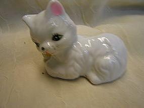 White Kitten Figurine