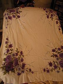 Purple Dahlia Tablecloth