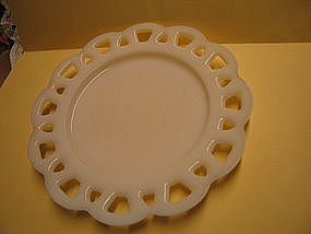 Hazel Atlas Milk Glass Plate