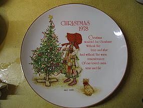 Holly Hobbie Christmas plate