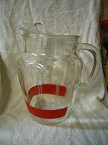 Anchor Hocking Red Band Pitcher