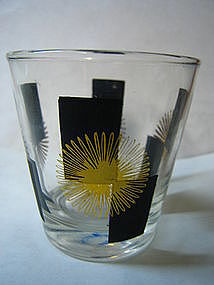 Atomic Black and Gold Glass
