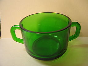 Green Double Handle Bowl