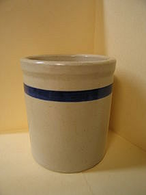 Blue Band Pottery Crock