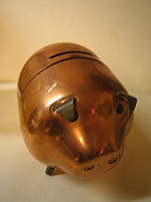 Copper Piggy Bank