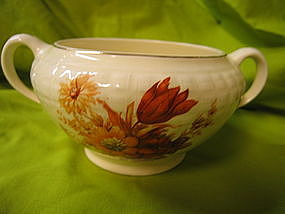Knowles Orange Floral Sugar Dish