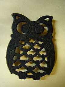 Cast Iron Owl Trivet