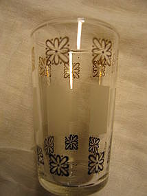 Libbey Black and Gold Glass