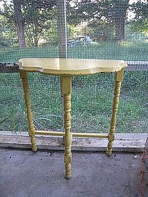 Vintage Half Moon Table