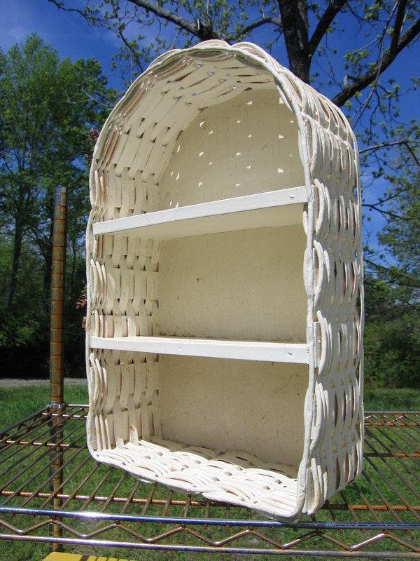 White Cottage Wicker Shelves