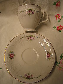 Bernadotte Rose Cup and Saucer