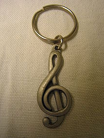 Gap Treble Clef Keyring