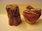 Fire Wood Salt and Pepper Shakers