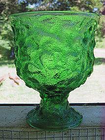 Vintage Green Goblet Vase