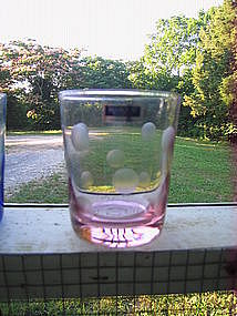 Waterford Marquis Pink Polka Dot Glass