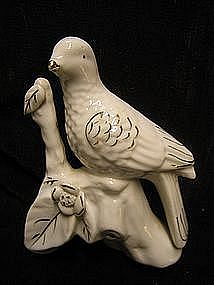 White Porcelain Bird Figurine