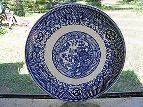 Scio Blue Willow Bread Plate