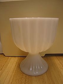 Pedestal Milk Glass Vase