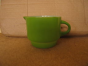 Anchor Hocking Green Creamer