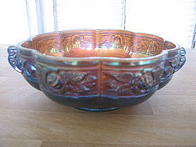 Carnival Glass Rose Bowl