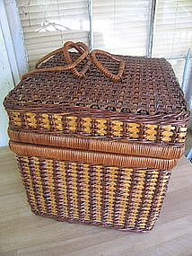 Vintage Wicker Box