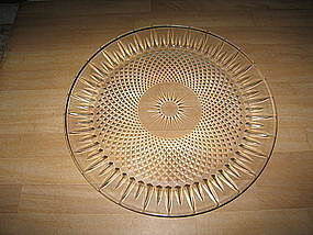 Crystal Diamond Point Platter