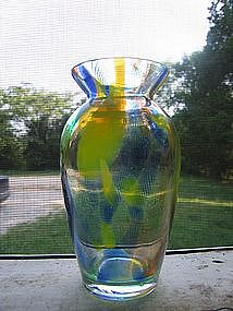 Blown Glass Confetti Vase