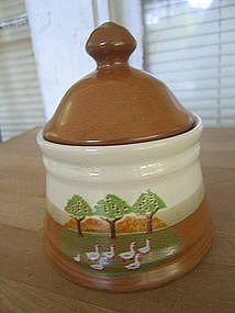 Pottery Geese Sugar Bowl