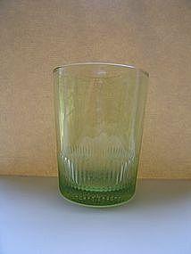 Peridot Green Old Fashioned Glass