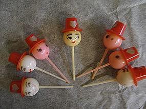 Vintage Valentine Cake Toppers