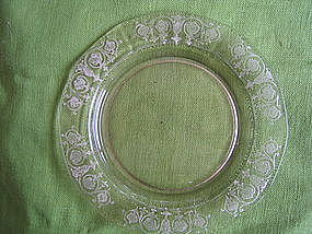 Pink Depression Glass Plate