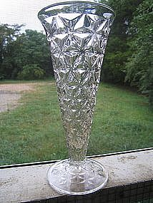 Crystal Diamond Cut Vase