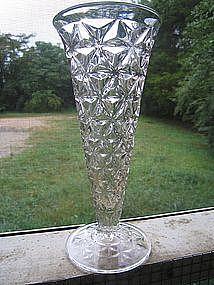 Crystal Diamond Cut Vase