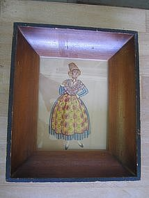 Western European Woman Print