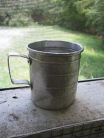 Vintage Aluminum Measuring Cup