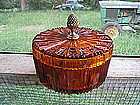 Citrine Cut Glass Box