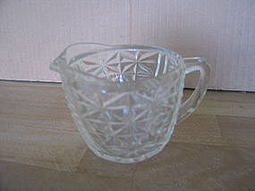 Anchor Hocking Stars and Bars Creamer
