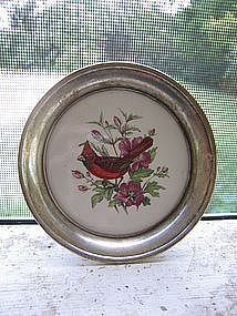 Silver Red Bird Coaster   SOLD