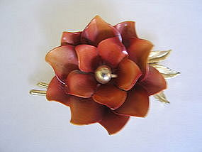 Coro Lotus Brooch