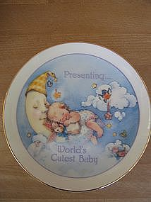 Lasting Memories World's Cutest Baby Plate