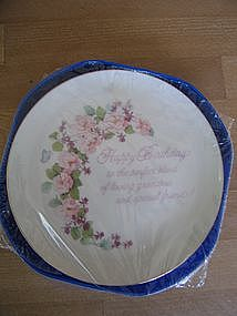 Lasting Memories Birthday Plate
