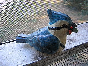 Blue Jay Candle